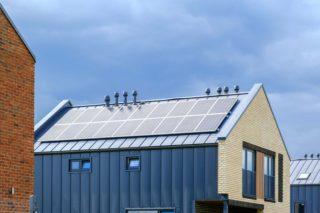 Солнечные электростанции накрыше вкоттеджном поселке «МартХаус»